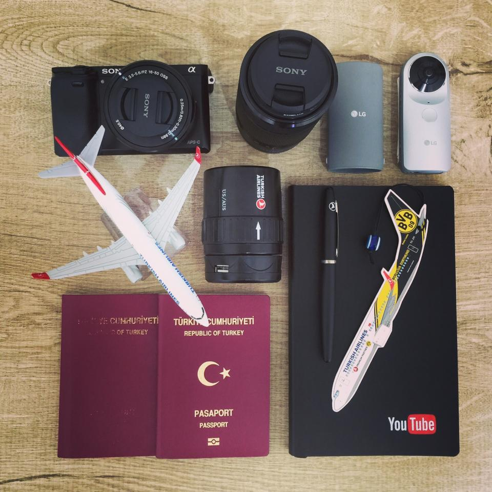 airplane business camera passport notebook pen photography portable retro smartphone sticker technology tour travel work