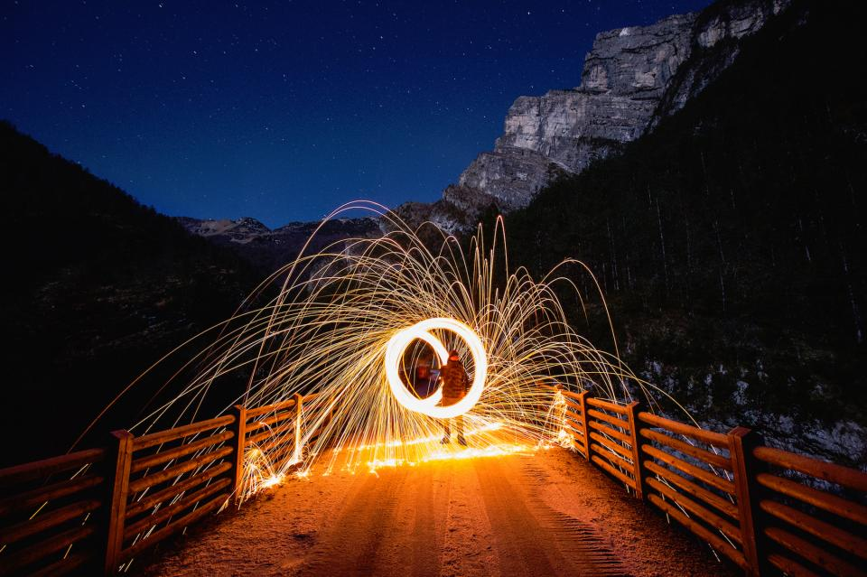 nature night sky photography light painting art mountains