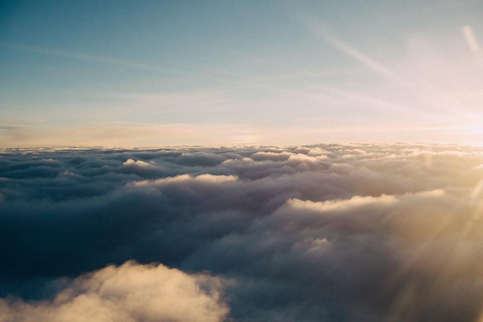 above the clouds sky sunshine sun rays nature
