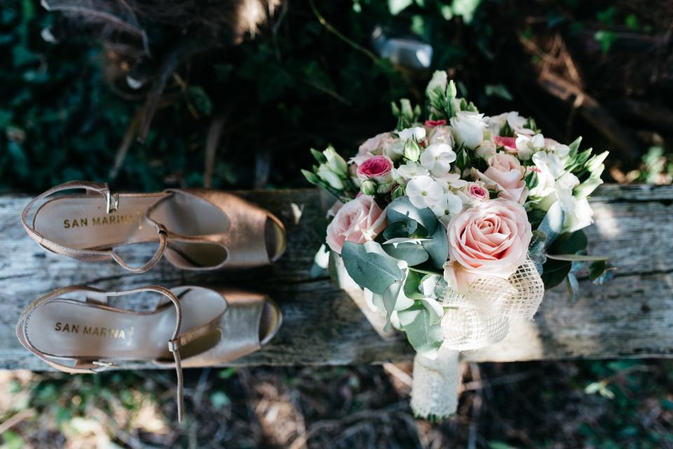 shoe footwear sandals flower wedding bouquet outdoor nature