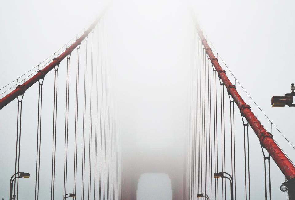 architecture building infrastructure structure bridge fog