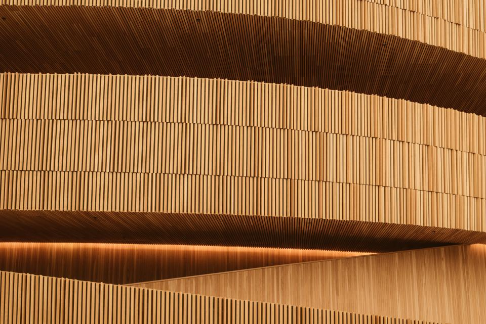 brown building wooden design art architecture