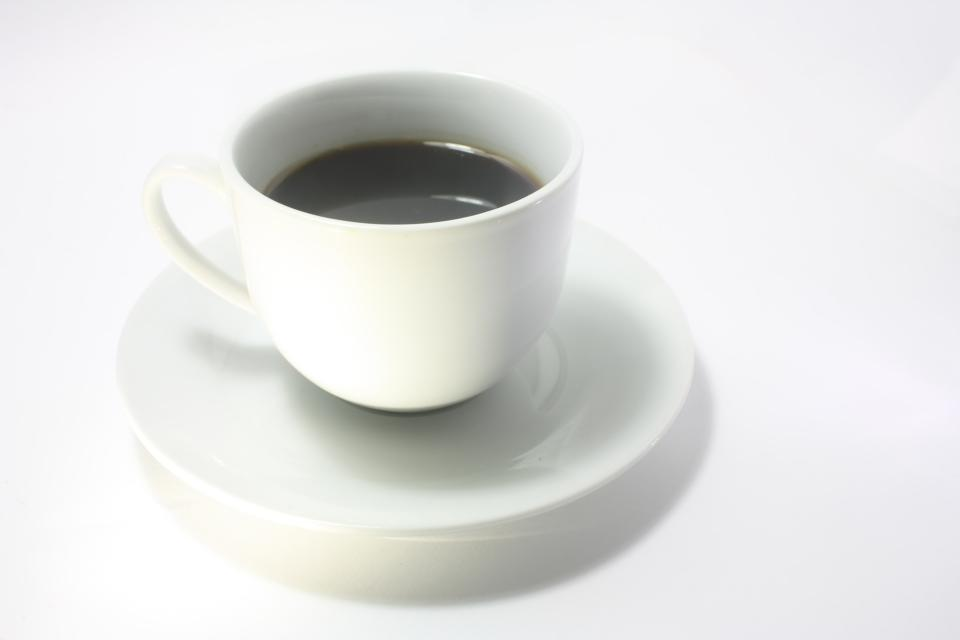 white cup saucer black coffee espresso drink hot cafe americano