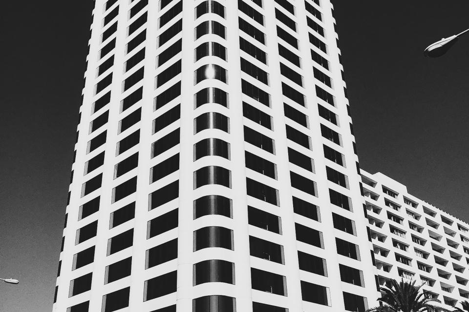 building windows architecture city urban sky black and white tower high rise
