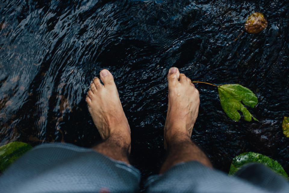 feet water river stream nature outdoors