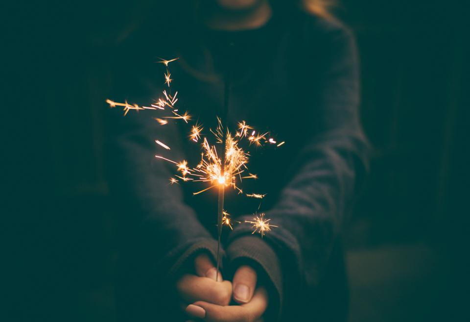 guy man male people hands hold sparklers fireworks spark flame light shadows