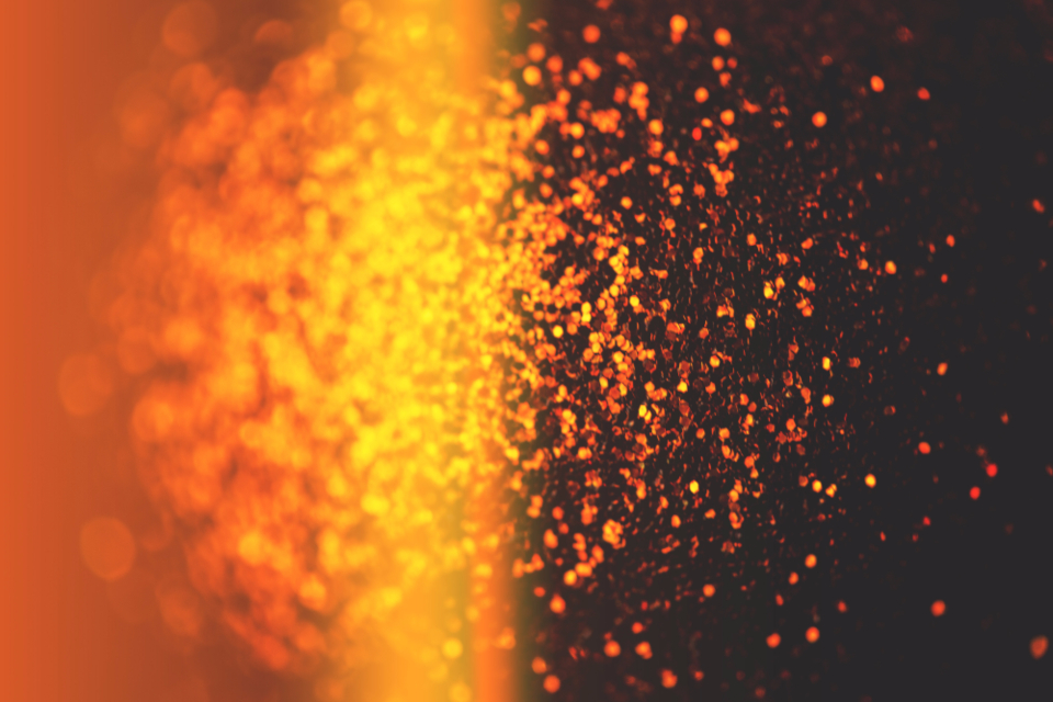Abstract Light Orange Red Flare Lens