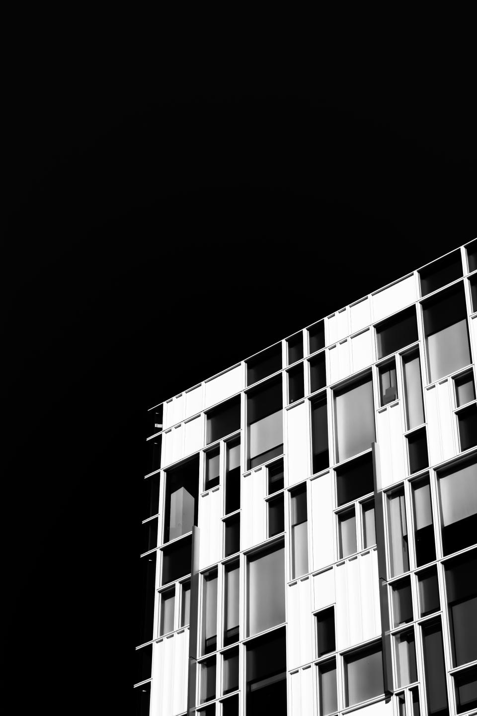 architecture building infrastructure black and white skyscraper tower