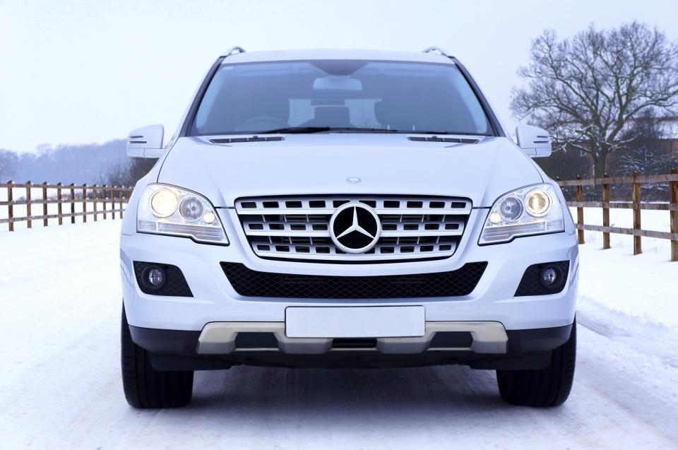nature snow white car vehicle luxury mercedes benz