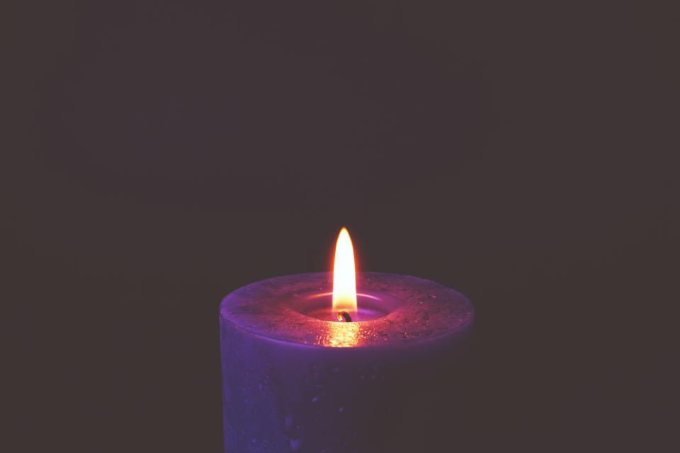 candle light fire flame dark night