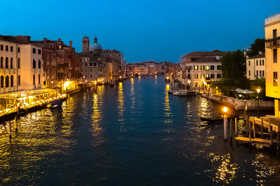 venice italy lights canal amazing view