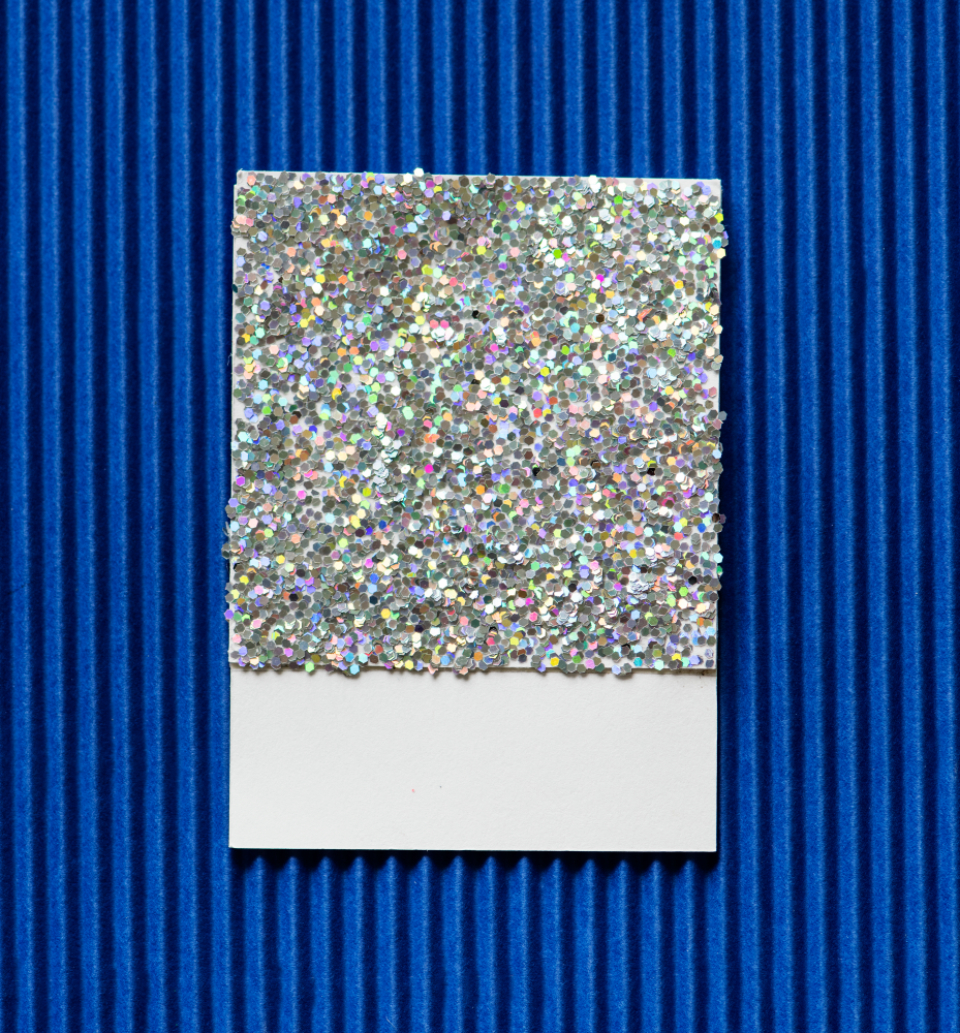abstract flat lay pastel close up top card colorful glitter shiny sparkly creative design decoration fun paper simple minimal crafts pattern shape texture