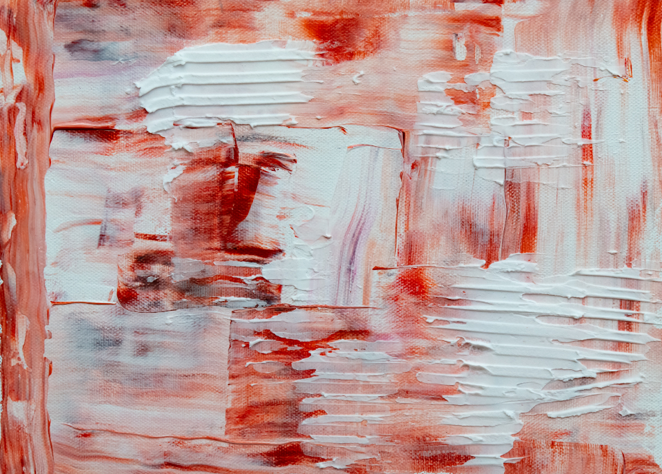 textured canvas painting abstract painting art design artist canvas acrylic close up messy red white thick paint