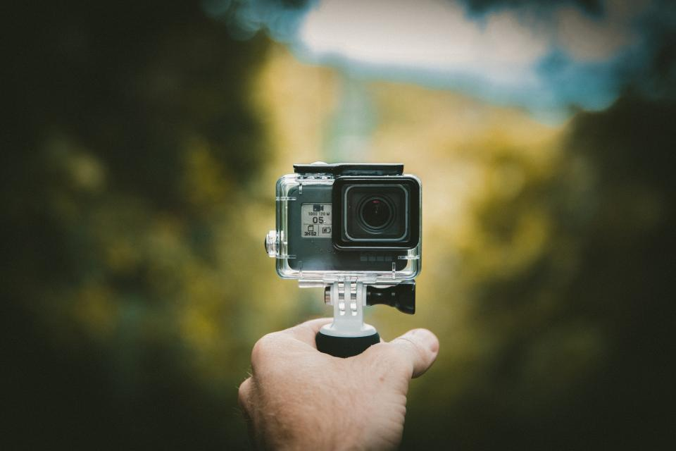 camera gopro photography adventure travel hand blur nature