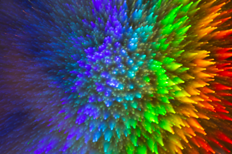 color abstract motion movement bright vivid wallpaper effect creative design blur glow explosion blue red green orange