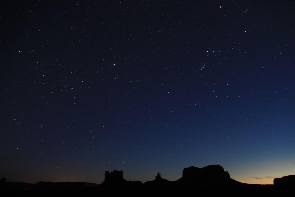 star dark night constellation silhouette nature landscape