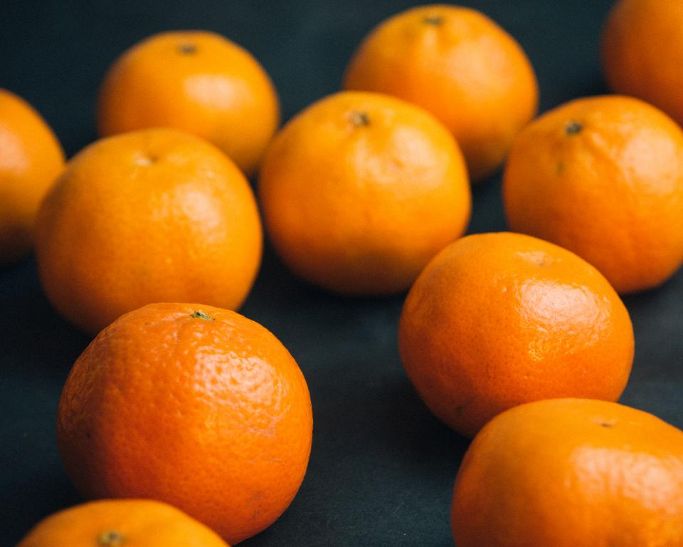 orange tangerines fruits healthy christmas