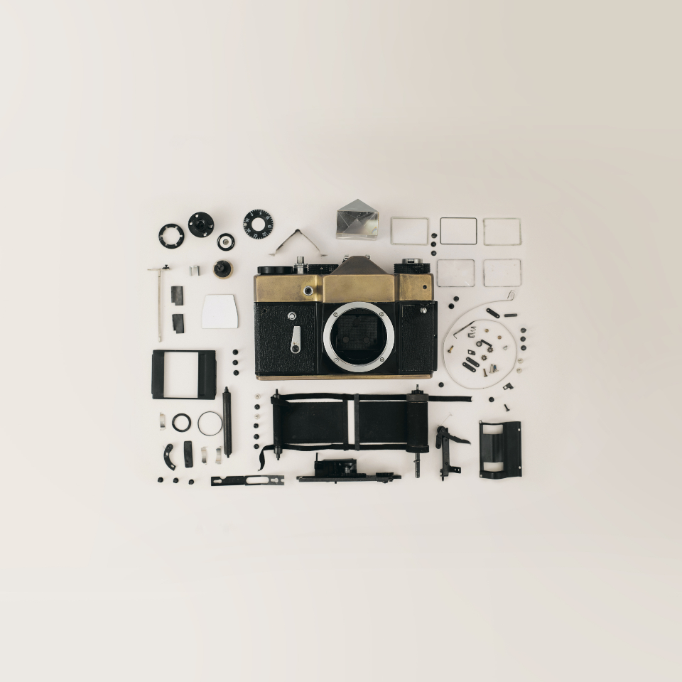 vintage camera components broken parts mechanical white background wallpaper hd lens photographer photography photo