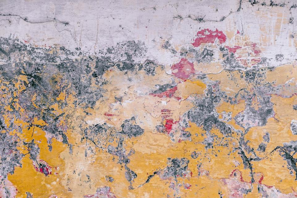 wall paint painting old yellow peeled off
