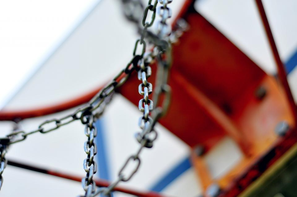 basketball hoop rim chains court sports