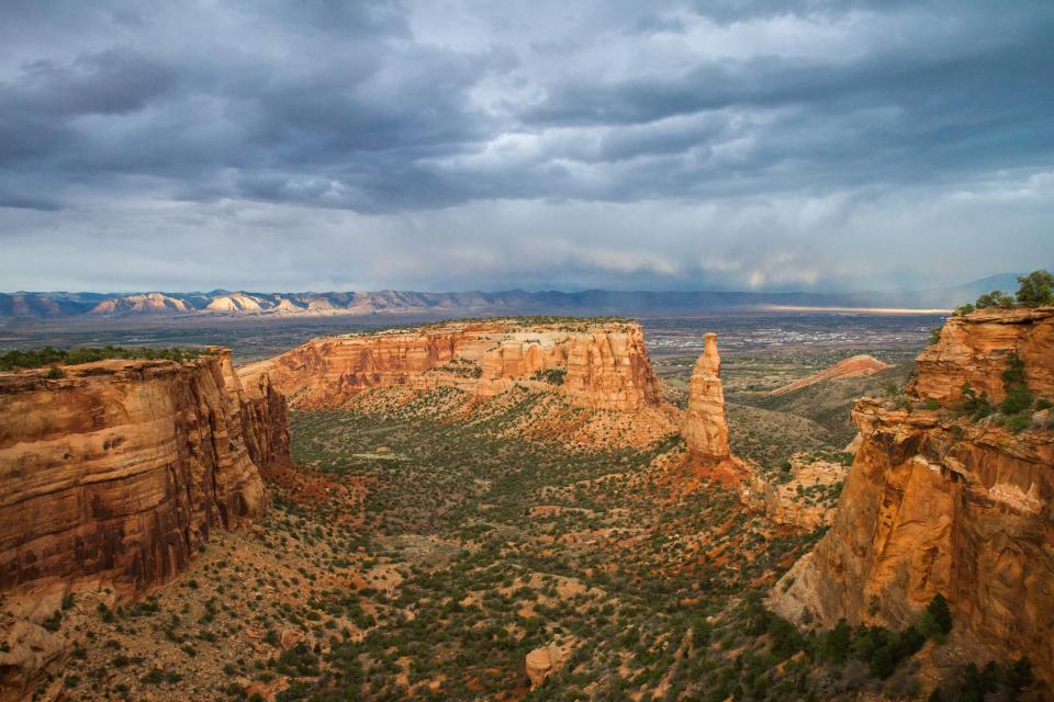clouds sky landscape canyon monument travel outdoor view