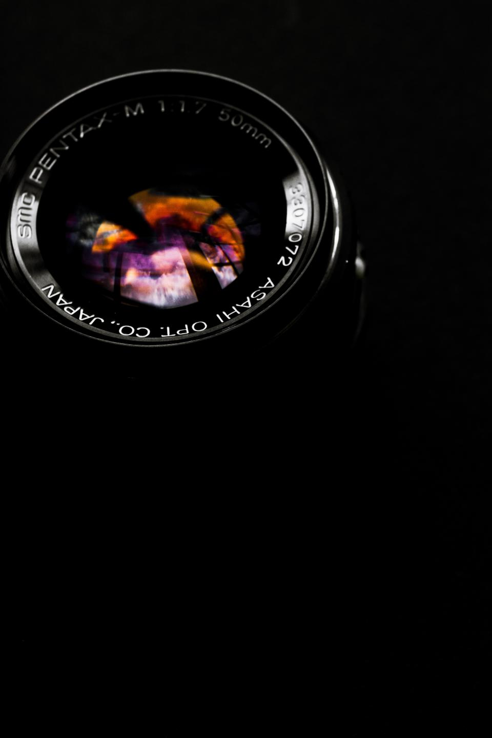 camera optics lens photography black