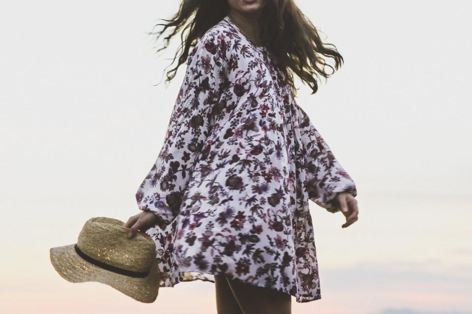 people woman fashion flowers hat motion