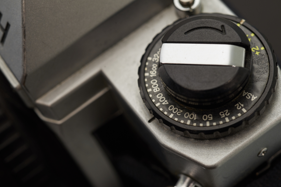 camera macro detail old photography classic film advance button metal iso analogue equipment body viewfinder vintage aged
