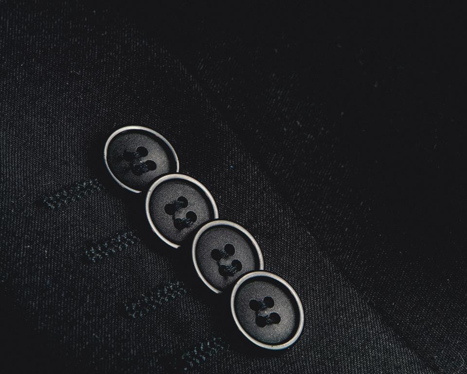 suit blazer buttons fashion clothes clothing black and white