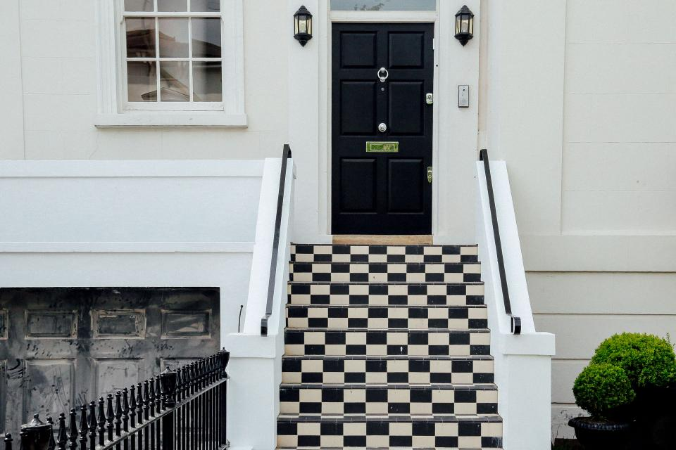 architecture white house structure design stairs door window