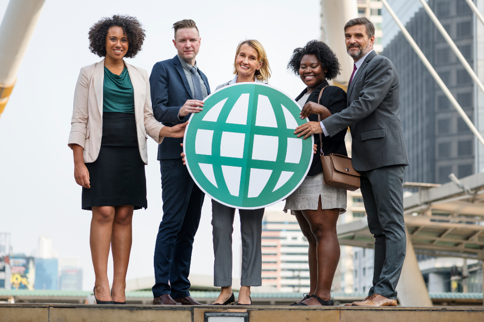 business people city colleagues communication connected connecting connection corporate diverse diversity downt
