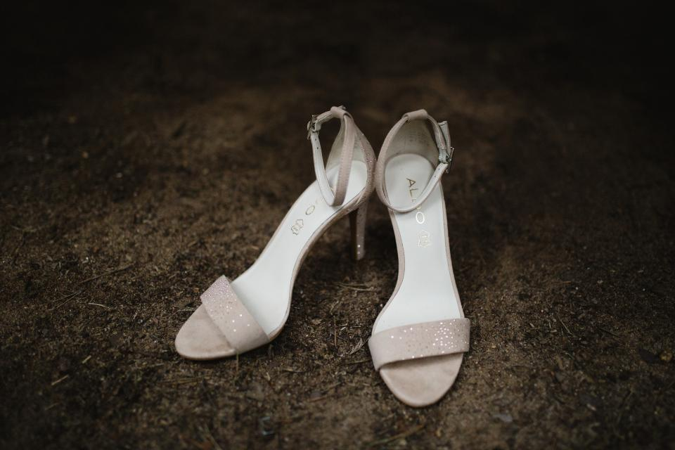 still items things shoes wedding event sandals aldo vignette bokeh