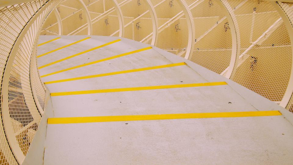 architecture design structure walkway yellow