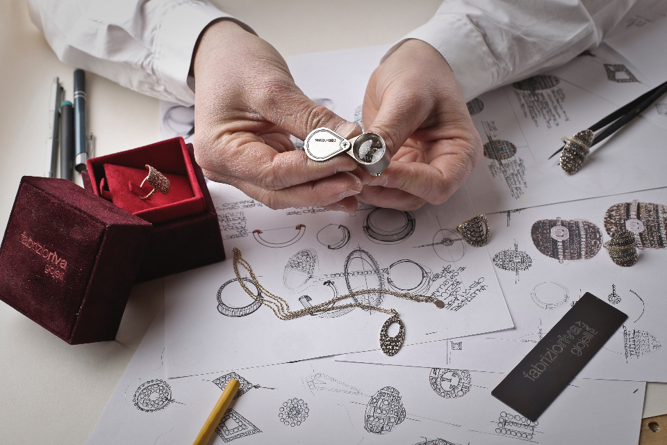 jewellery design sketch craft craftsman necklace ring drawing concept knife pencil.hands man