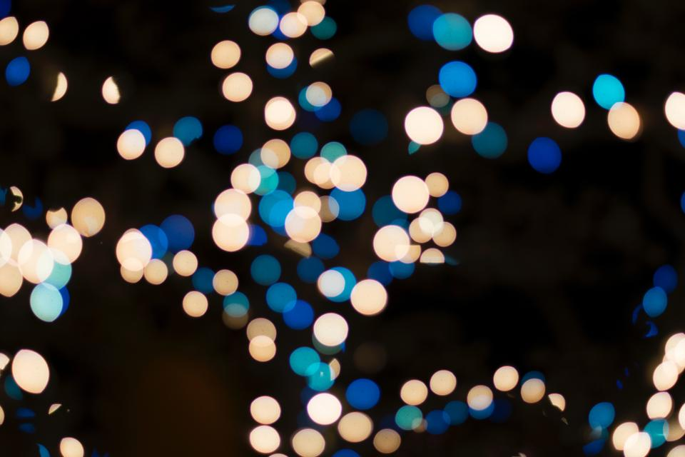 bokeh lights night dark photography christmas holiday festival