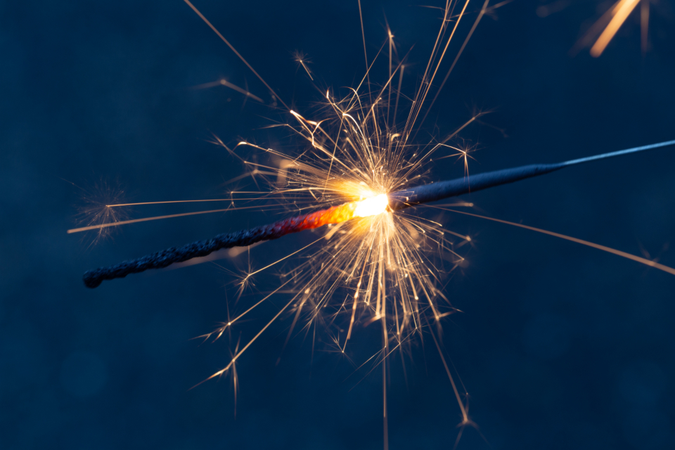 sparklers fireworks holiday celebration macro close up evening sparks hot effects glow night summer fun party entertainment