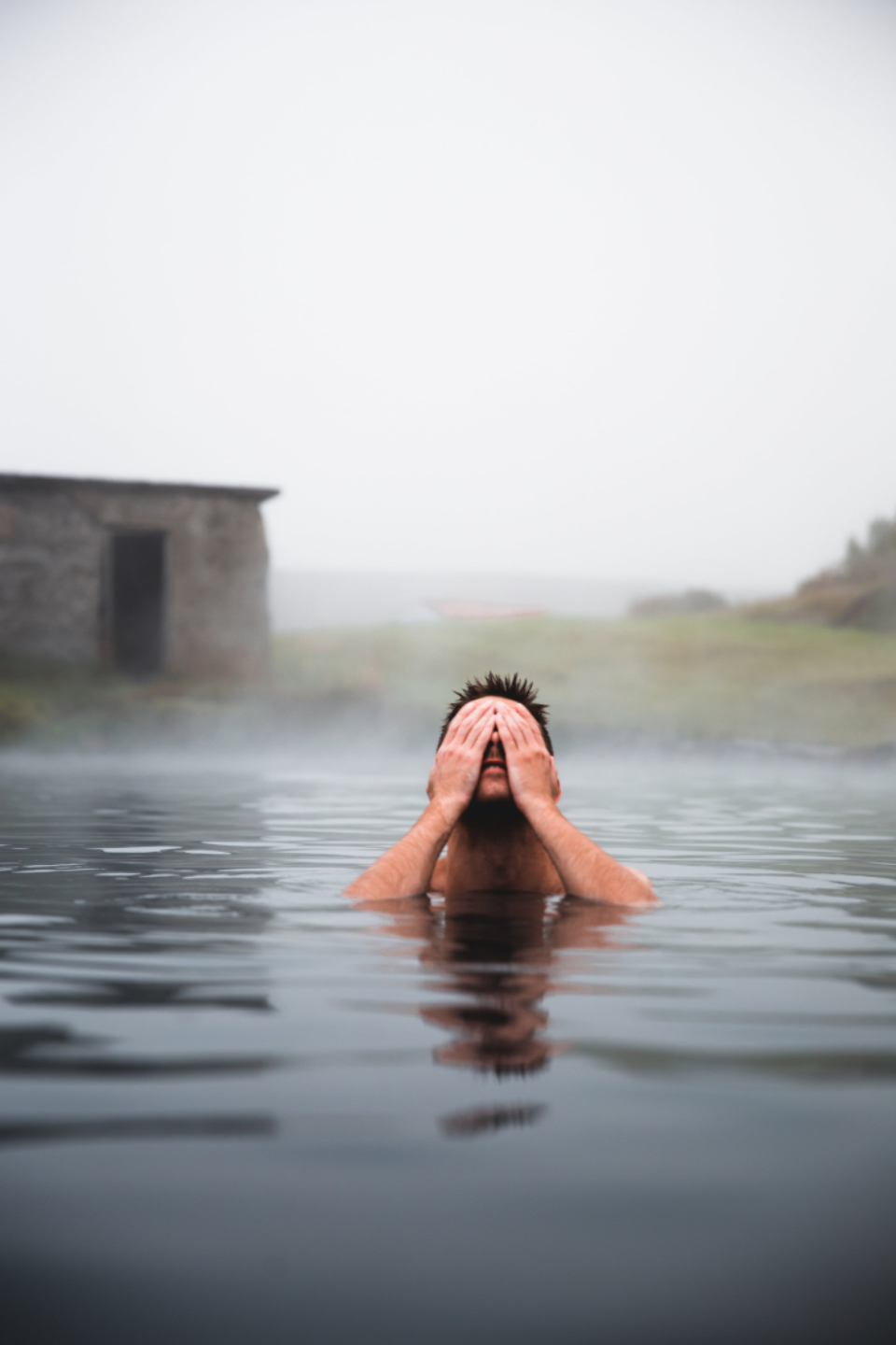 swim man nature outdoors outside pool hot spring mist wet spa relaxing natural thermal water water aqua bath warm leisure mineral