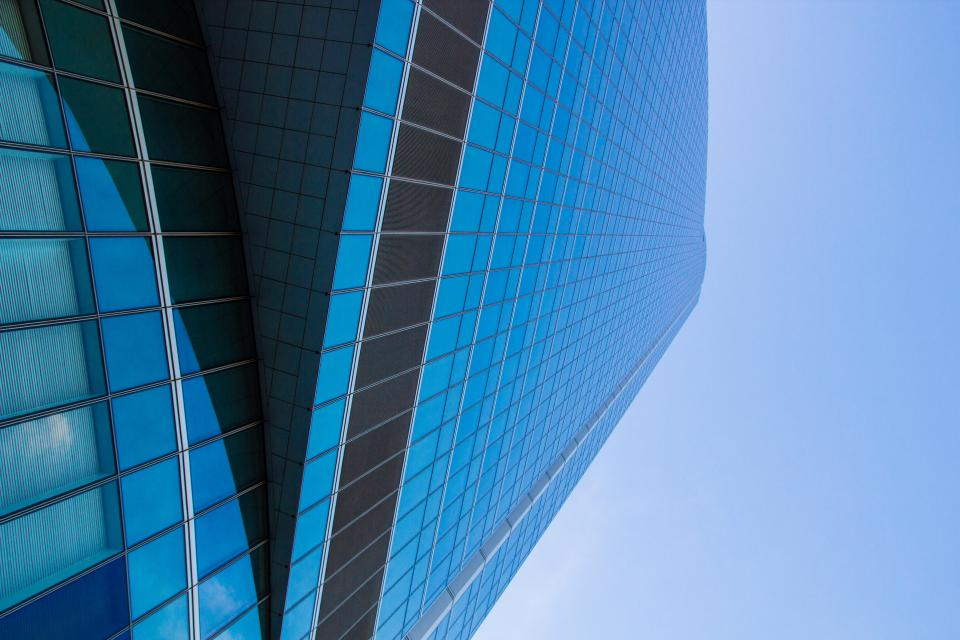 architecture blue building infrastructure sky skyscraper tower city urban