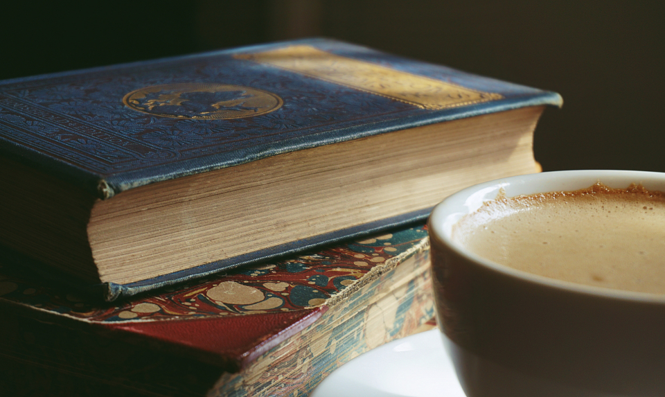 books old books coffee cappuccino drinks reading vintage