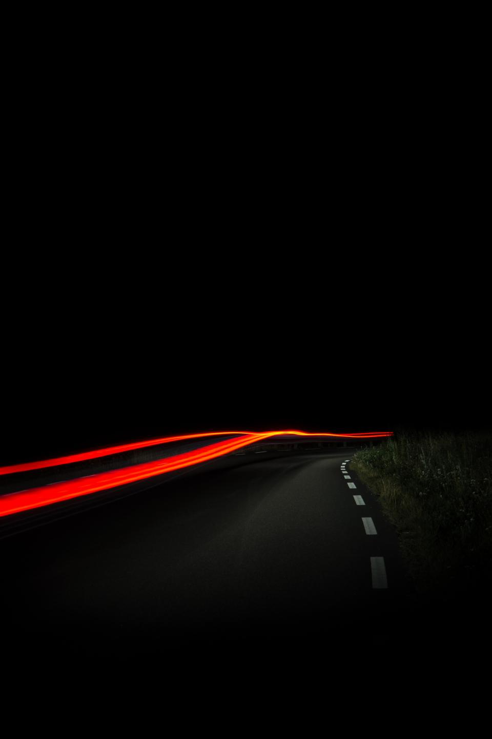 long exposure car transportation photography dark night road highway