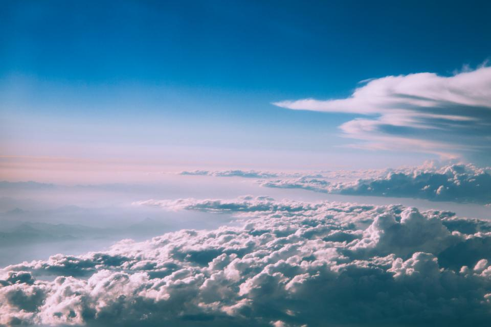 nature sky clouds blue atmosphere fly