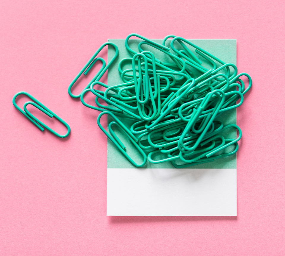 attachment background card clip clip art colorful decorate decoration design space equipment green objects office supply paper paper clip paperclip pastel pattern pile pink stack stationery supplies supply texture