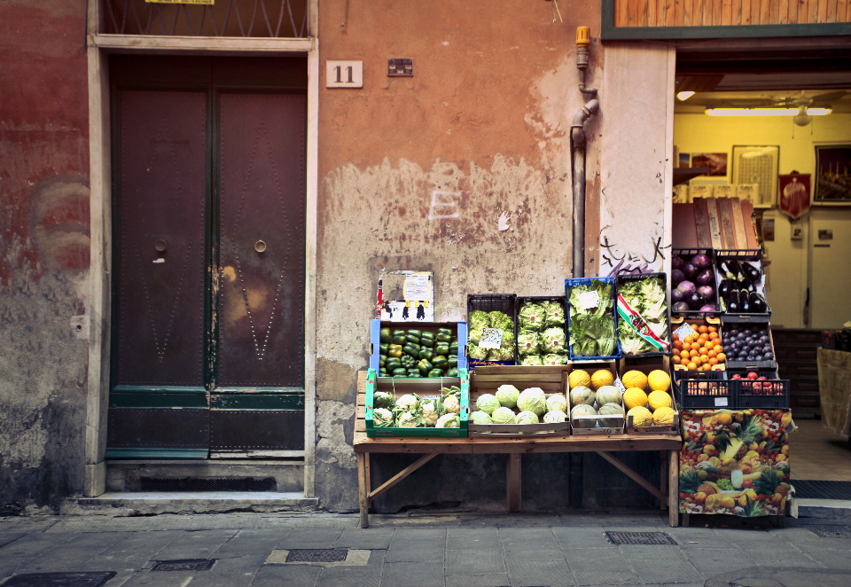 vegetable stall food city door fruit market shop store wall
