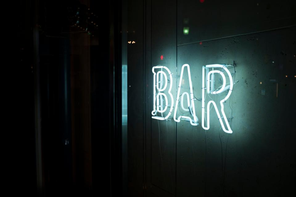 night dark lights bar celebration restaurant drinks alcohol beverage food