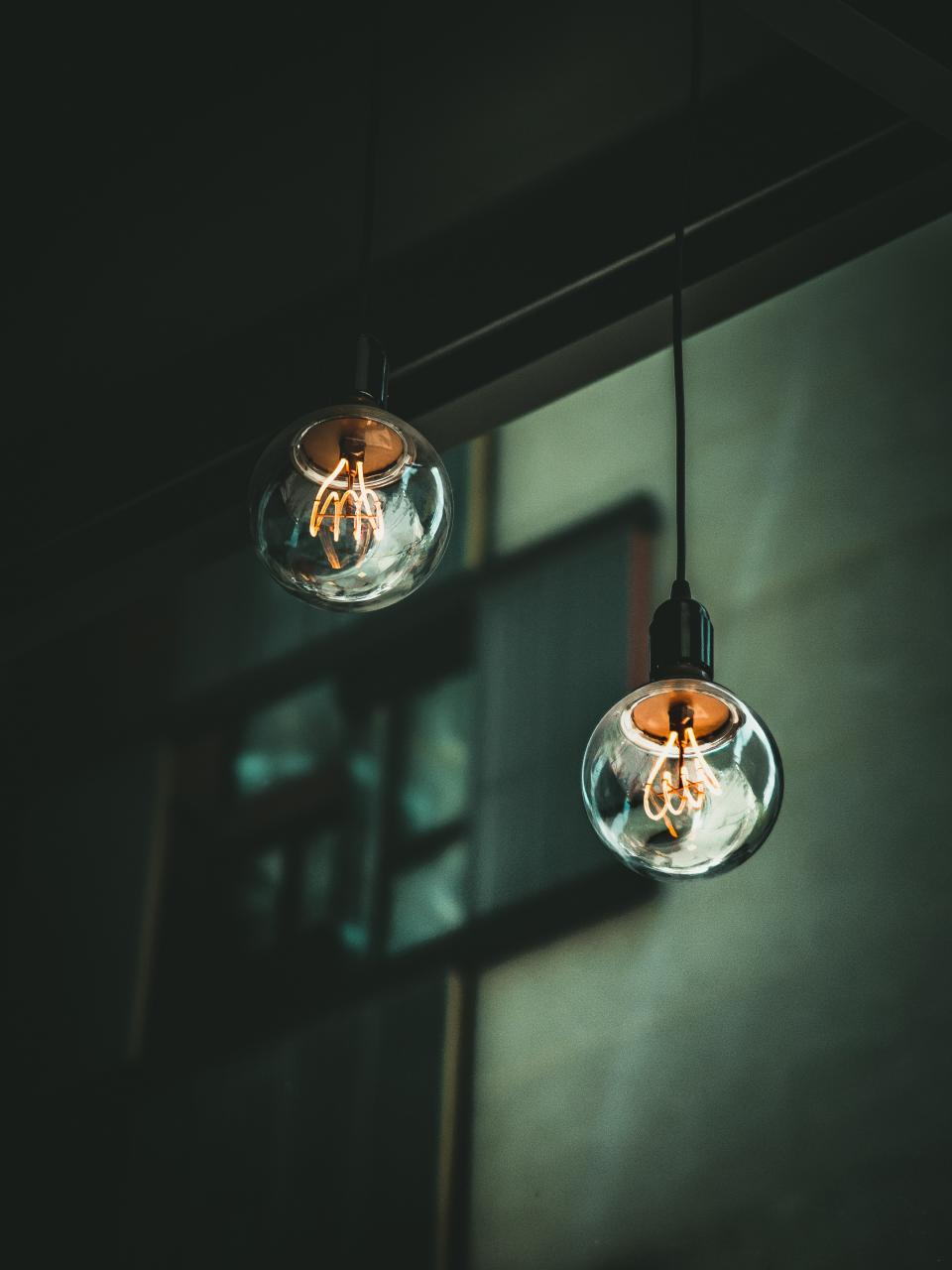 light bulb spark glass circle round bokeh blur window wall ceiling
