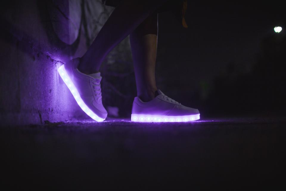 LED shoe footwear