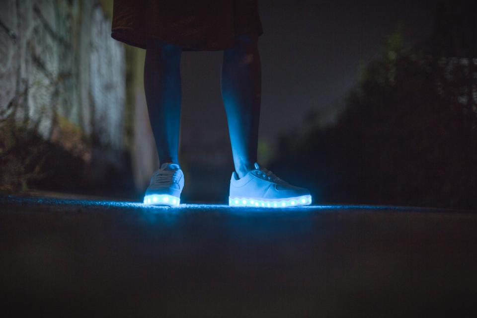 Free stock photo of LED shoe