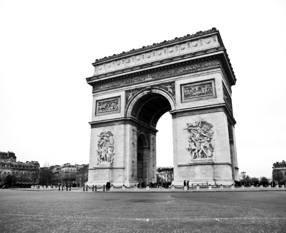 Arc De Triomphe paris black & white city france travel tourist vacation holiday