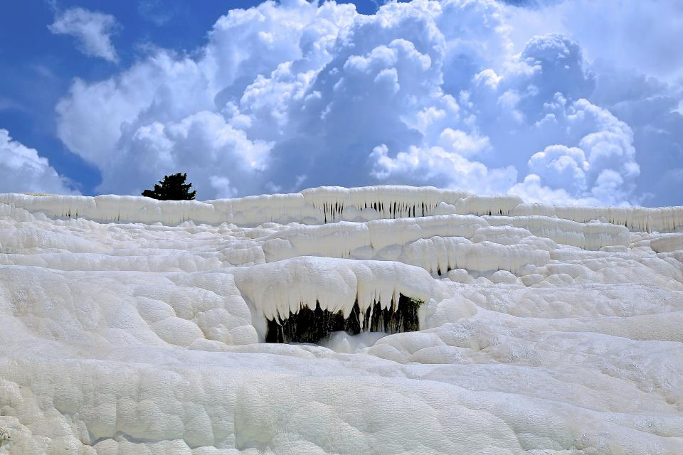 nature landscape clouds sky snow winter cold weather cave