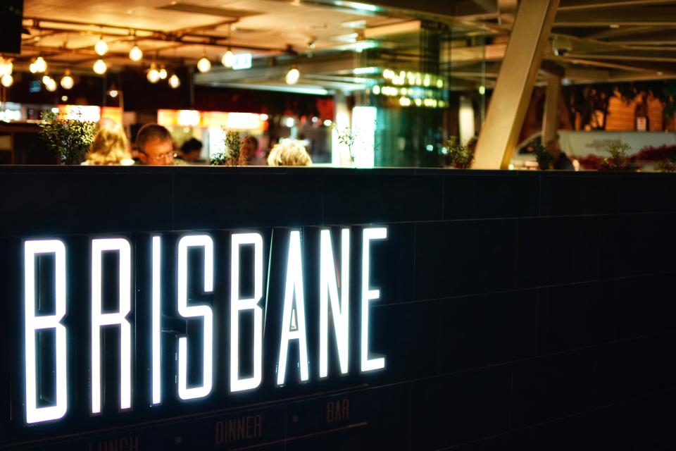 brisbane shop restaurant store people dark night lights dining